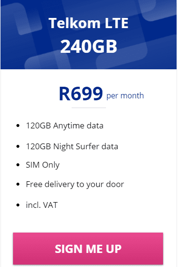 Telkom LTE 240GB Package