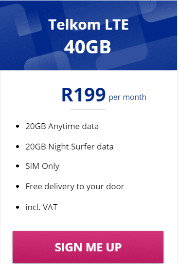 Telkom LTE 40GB Package