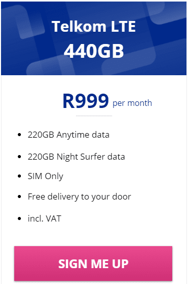 Telkom LTE 440GB Package